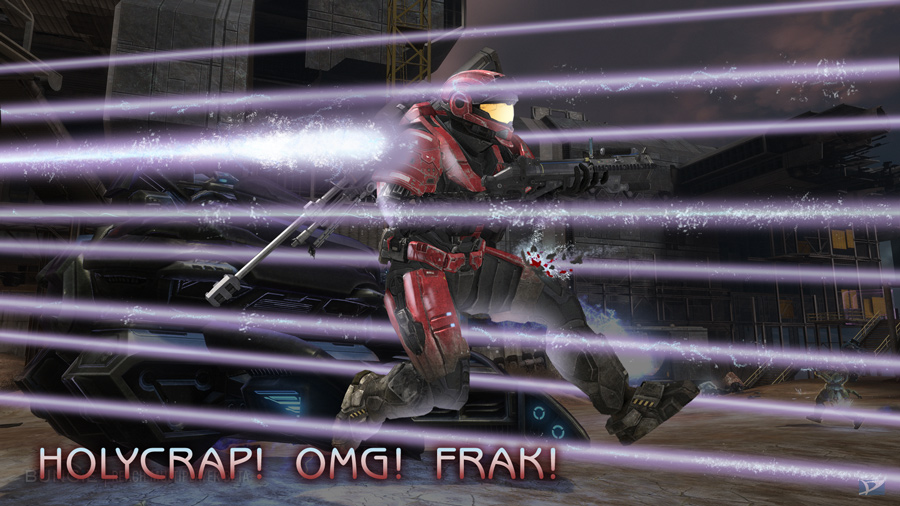 Since I am not an obsessive gamer, my typical HALO experience.