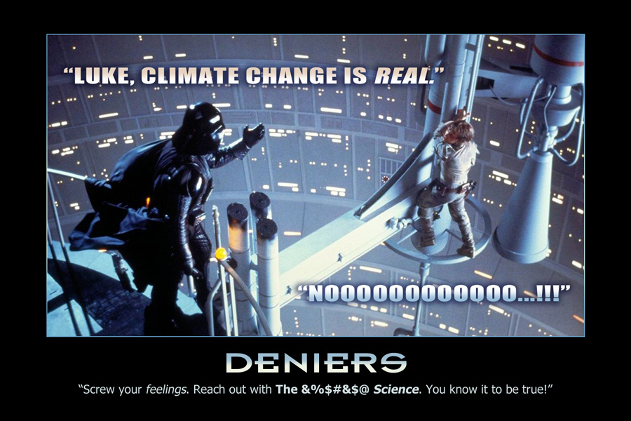 Darth Vader and Luk - Climate Change is Real.