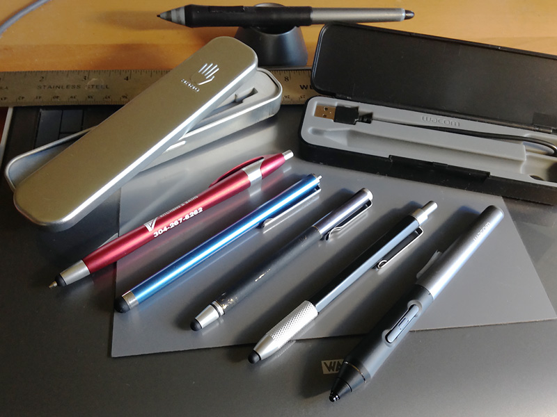 A Collection of Touch Styluses