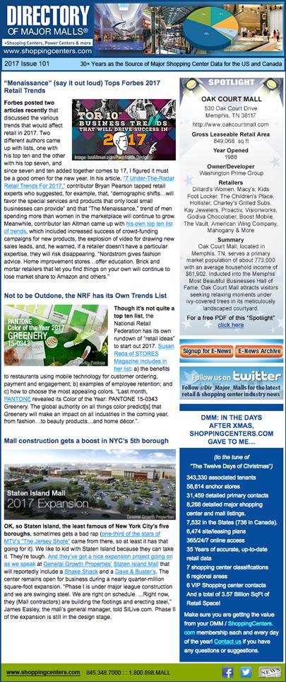 DMM e-Newsletter #101 Thumbnail